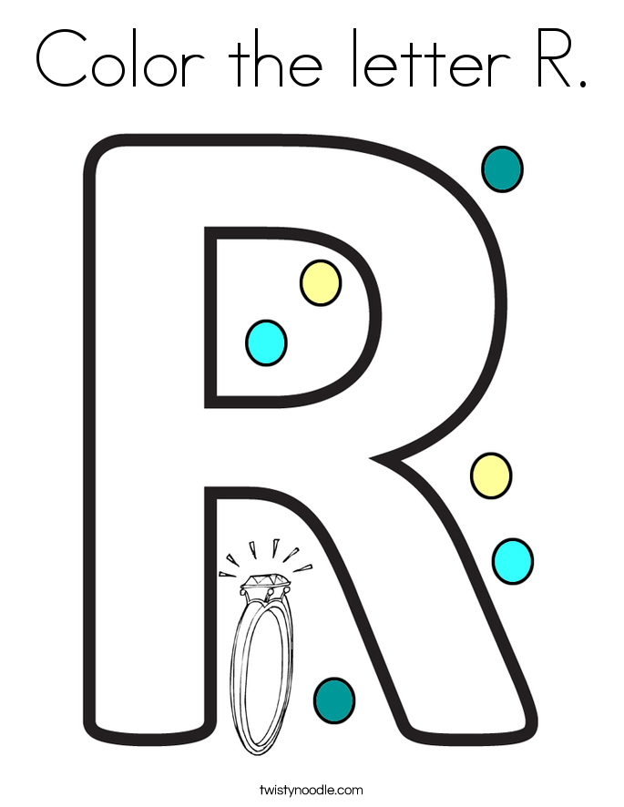 Color the letter R. Coloring Page