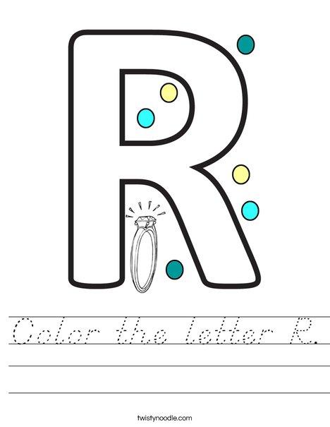 Color the letter R. Worksheet