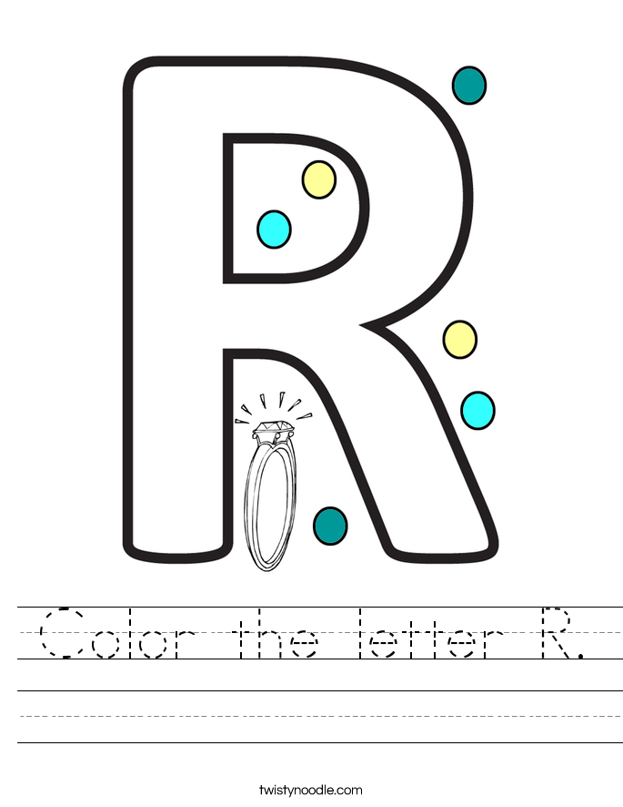 Color the letter R. Worksheet