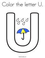 Color the letter U Coloring Page