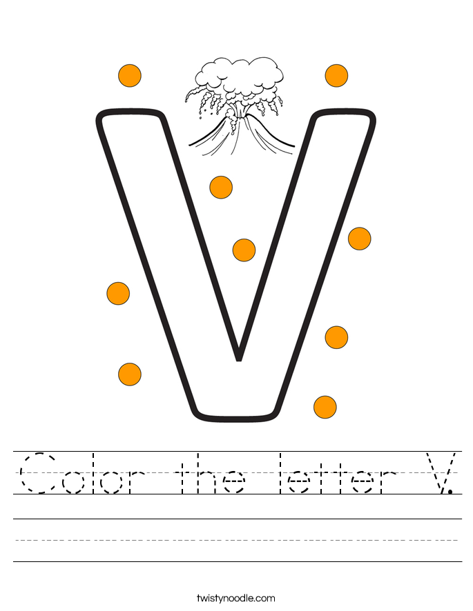 Color the letter V. Worksheet
