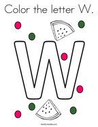 Color the letter W Coloring Page