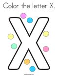 Color the letter X. Coloring Page