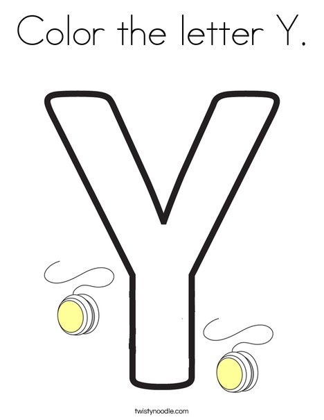 Color the letter Y. Coloring Page