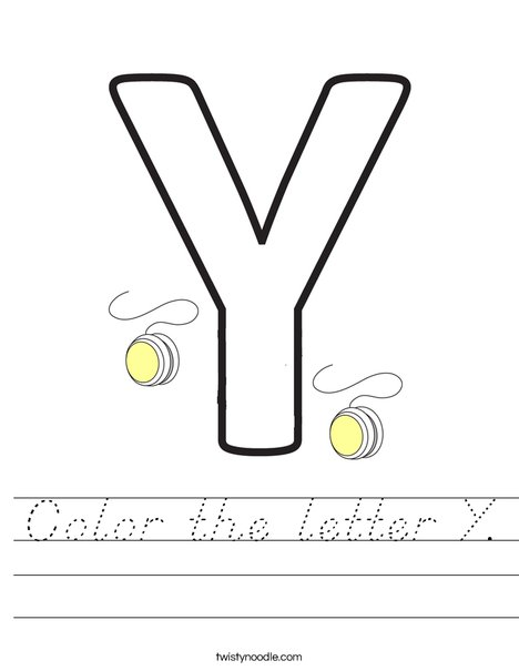 Color the letter Y. Worksheet