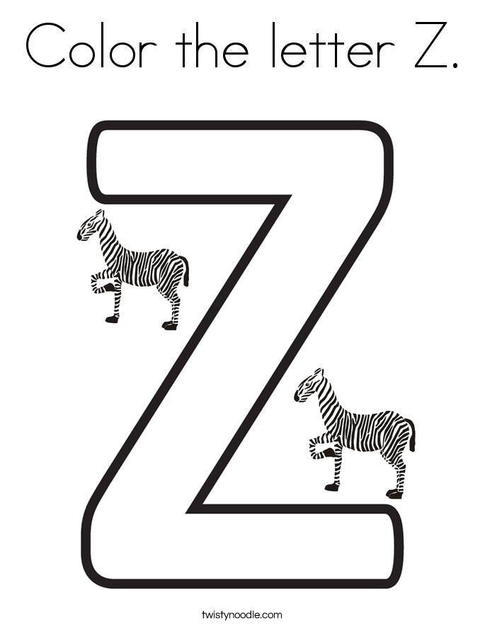 Color The Letter Z Coloring Page
