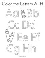 Color the Letters A-H Coloring Page
