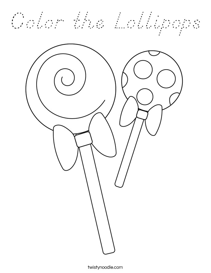 Color the Lollipops Coloring Page