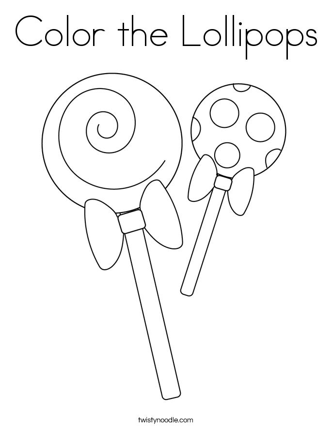 Color the Lollipops Coloring Page
