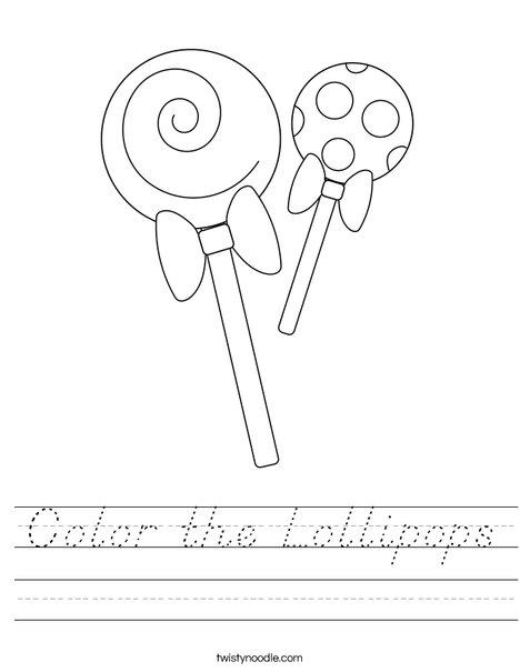 Color the Lollipops Worksheet