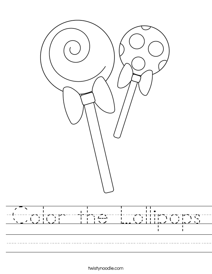Color the Lollipops Worksheet