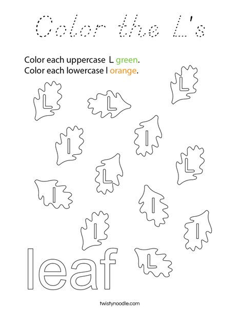 Color the L's Coloring Page