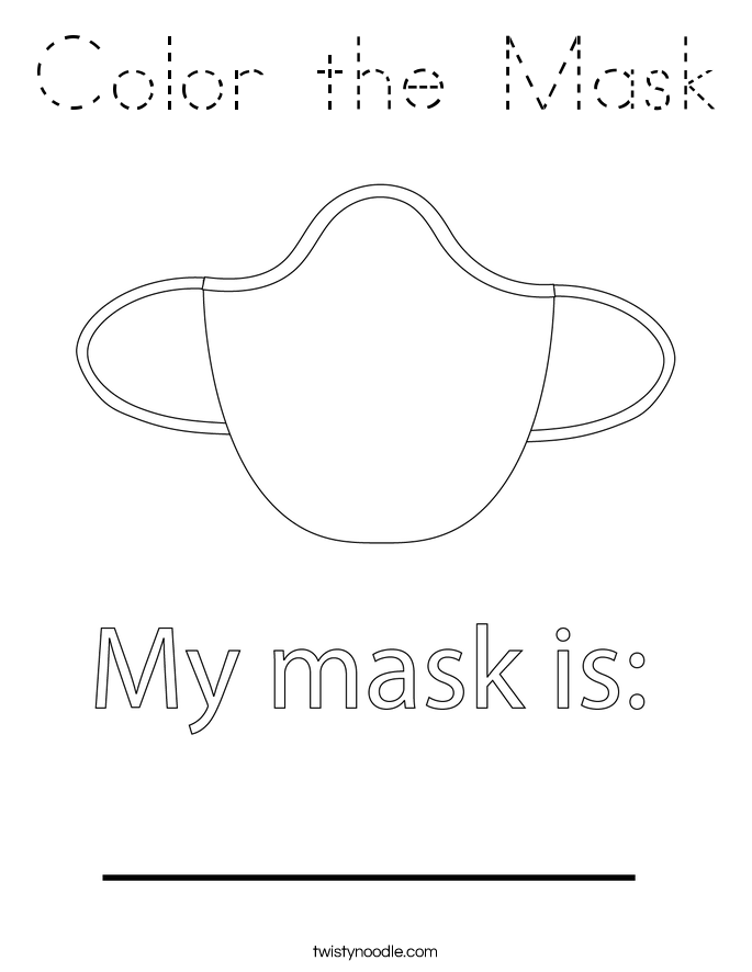 Color the Mask Coloring Page