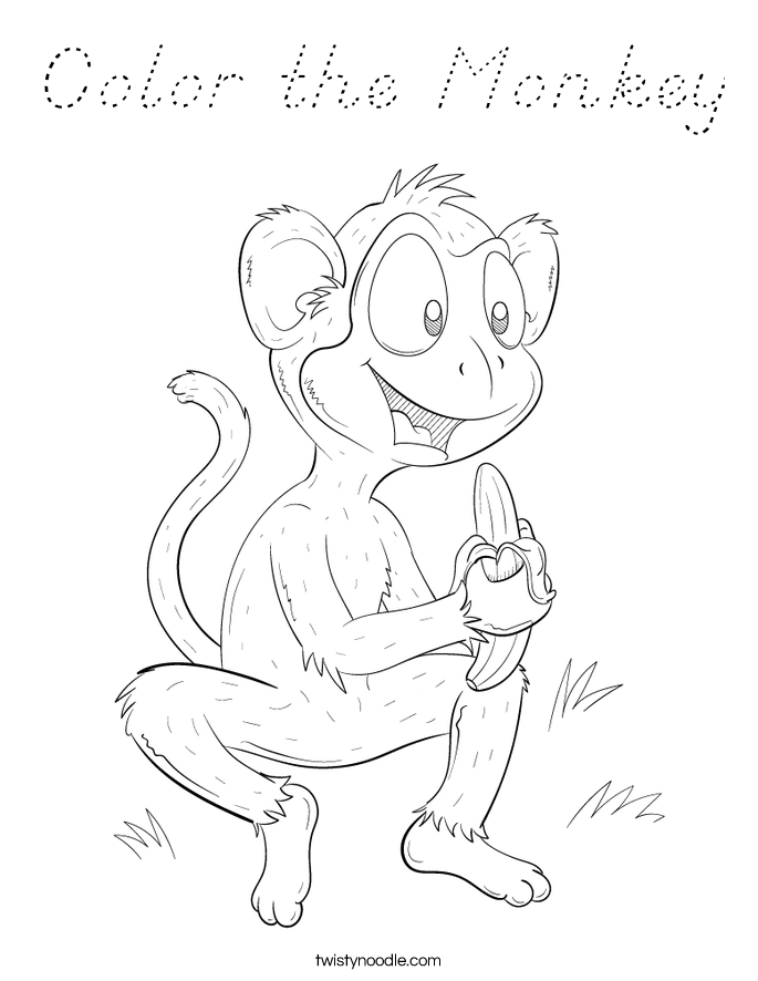 Color the Monkey Coloring Page