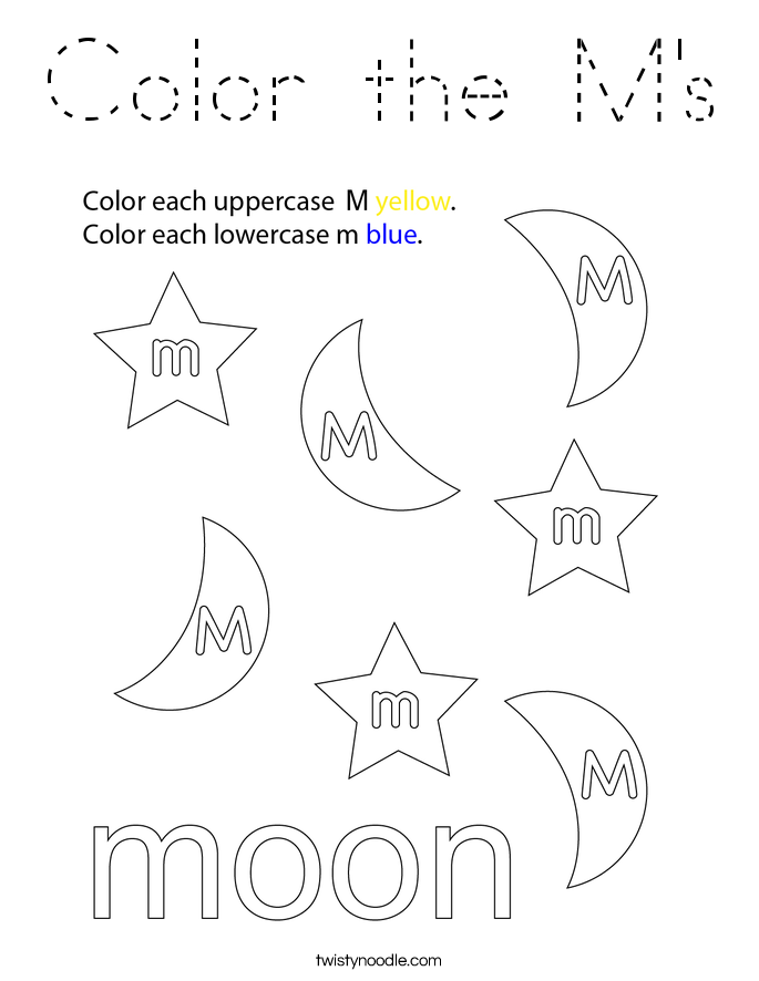 Color the M's Coloring Page