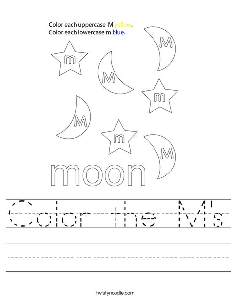 Color the M's Worksheet
