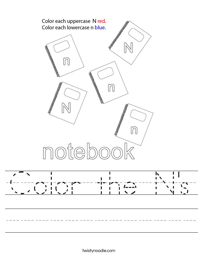 Color the N's Worksheet