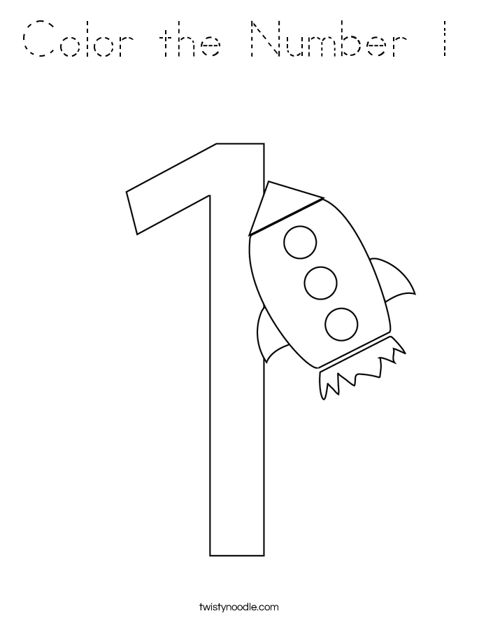 Color the Number 1 Coloring Page