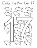 Color the Number 17 Coloring Page