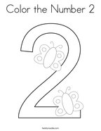 Color the Number 2 Coloring Page