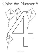 Color the Number 4 Coloring Page