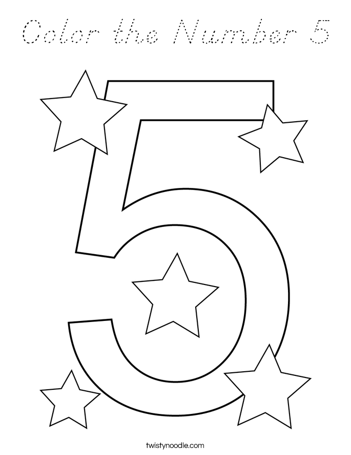 Color the Number 5 Coloring Page