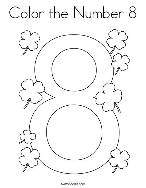 Color the Number 8 Coloring Page