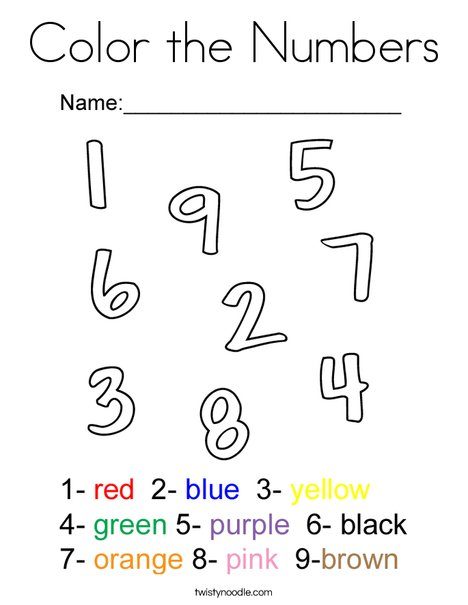 Color the Numbers Coloring Page