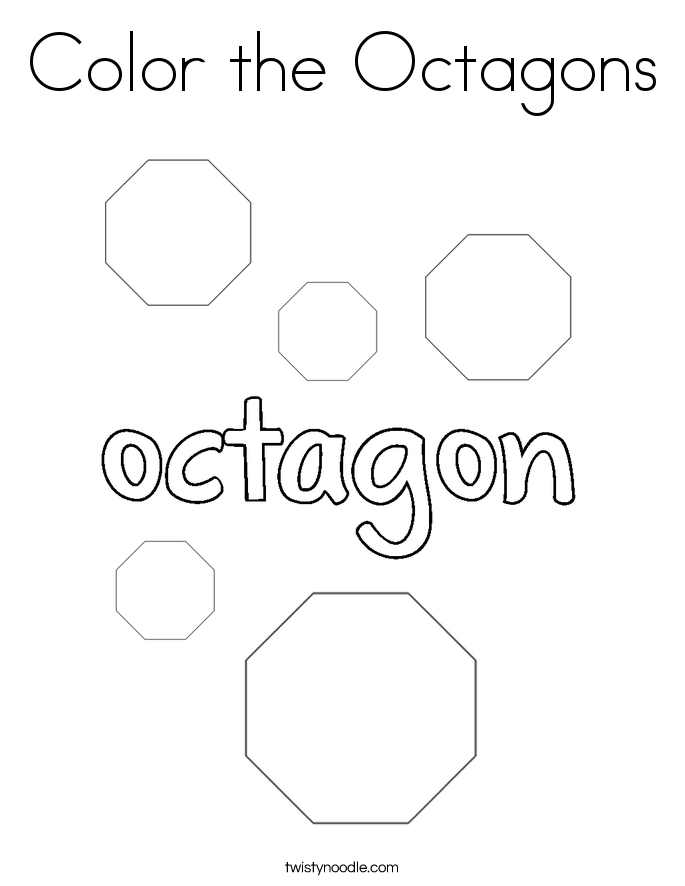 Color the Octagons Coloring Page