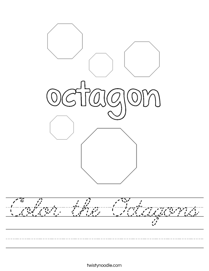 Color the Octagons Worksheet