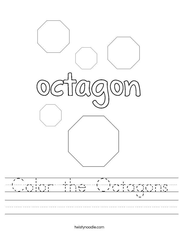 Color the Octagons Worksheet