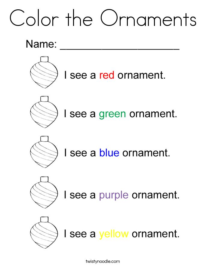 Color the Ornaments Coloring Page Twisty Noodle