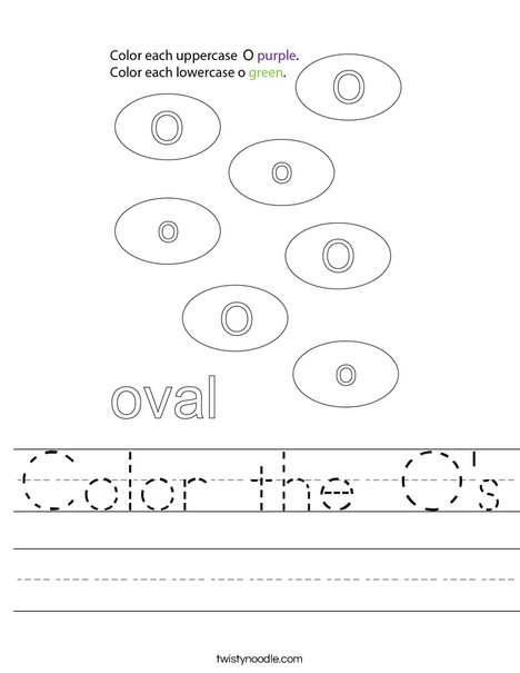 Color the O's Worksheet