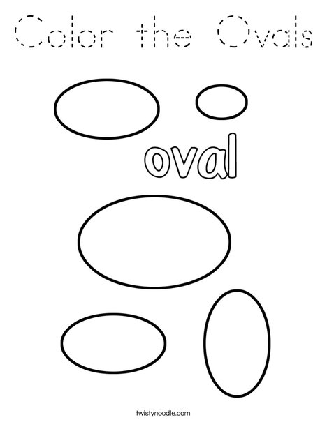Color the Ovals Coloring Page