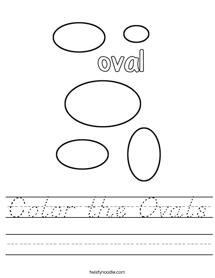 Color the Ovals Worksheet
