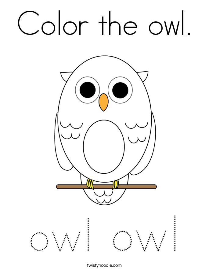 Color the owl. Coloring Page