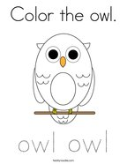 Color the owl Coloring Page