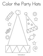 Color the Party Hats Coloring Page