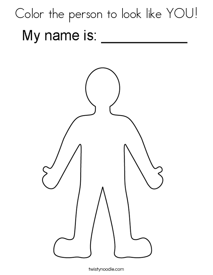 Color the person to look like YOU! Coloring Page