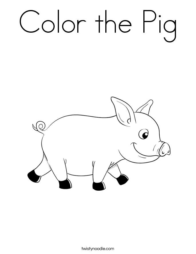 Color the Pig Coloring Page