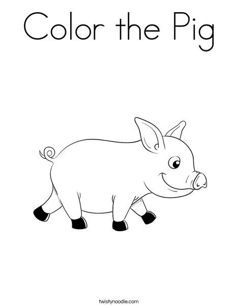 Color the Pig Coloring Page - Twisty Noodle