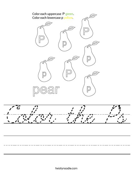 Color the P's Worksheet