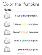 Color the Pumpkins Coloring Page