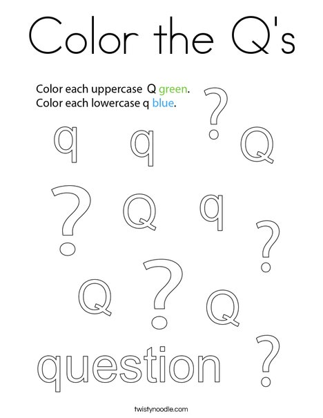 Color the Q's Coloring Page