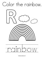 Color the rainbow Coloring Page