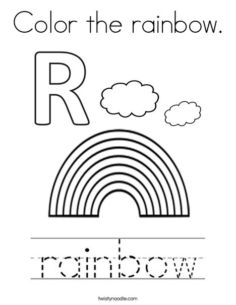 Color the rainbow Coloring Page - Twisty Noodle