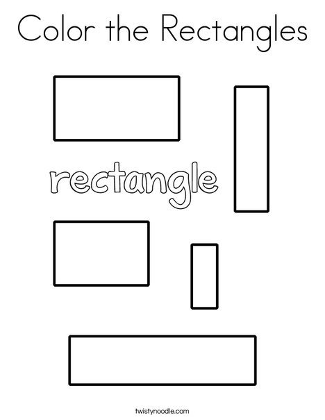 Color the Rectangles Coloring Page
