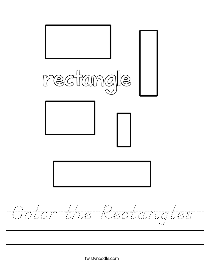 Color the Rectangles Worksheet