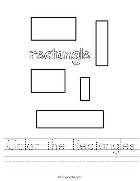Color the Rectangles Worksheet - Twisty Noodle