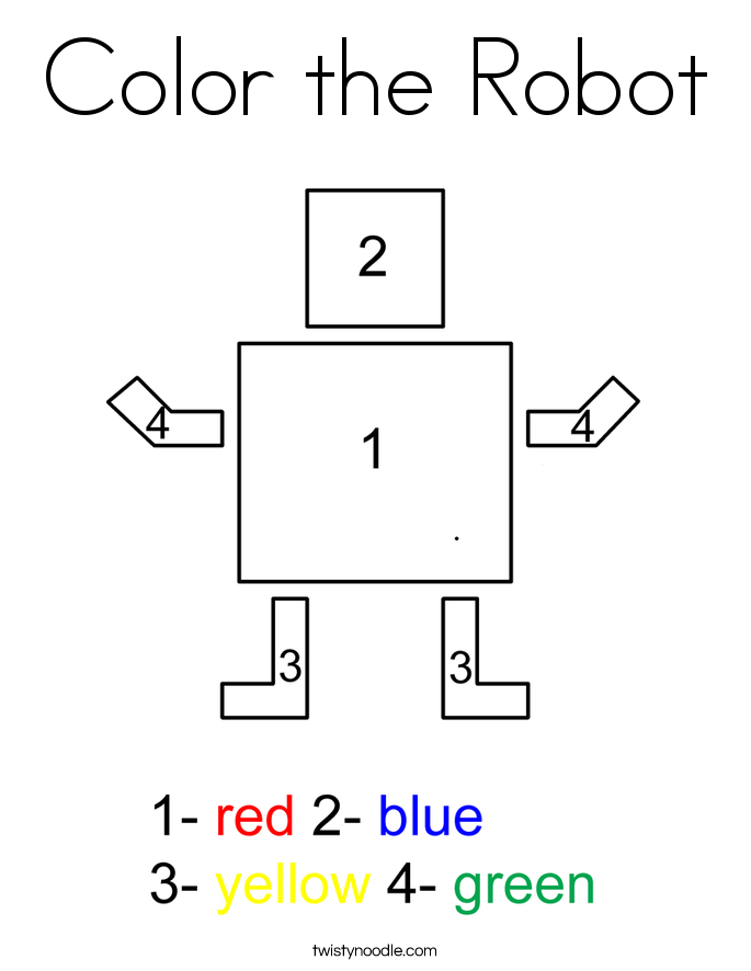 Color the Robot Coloring Page
